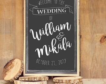Wedding Welcome Sign PRINTABLE
