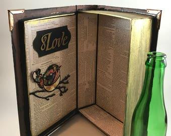 Vintage «livre de stockage caché»