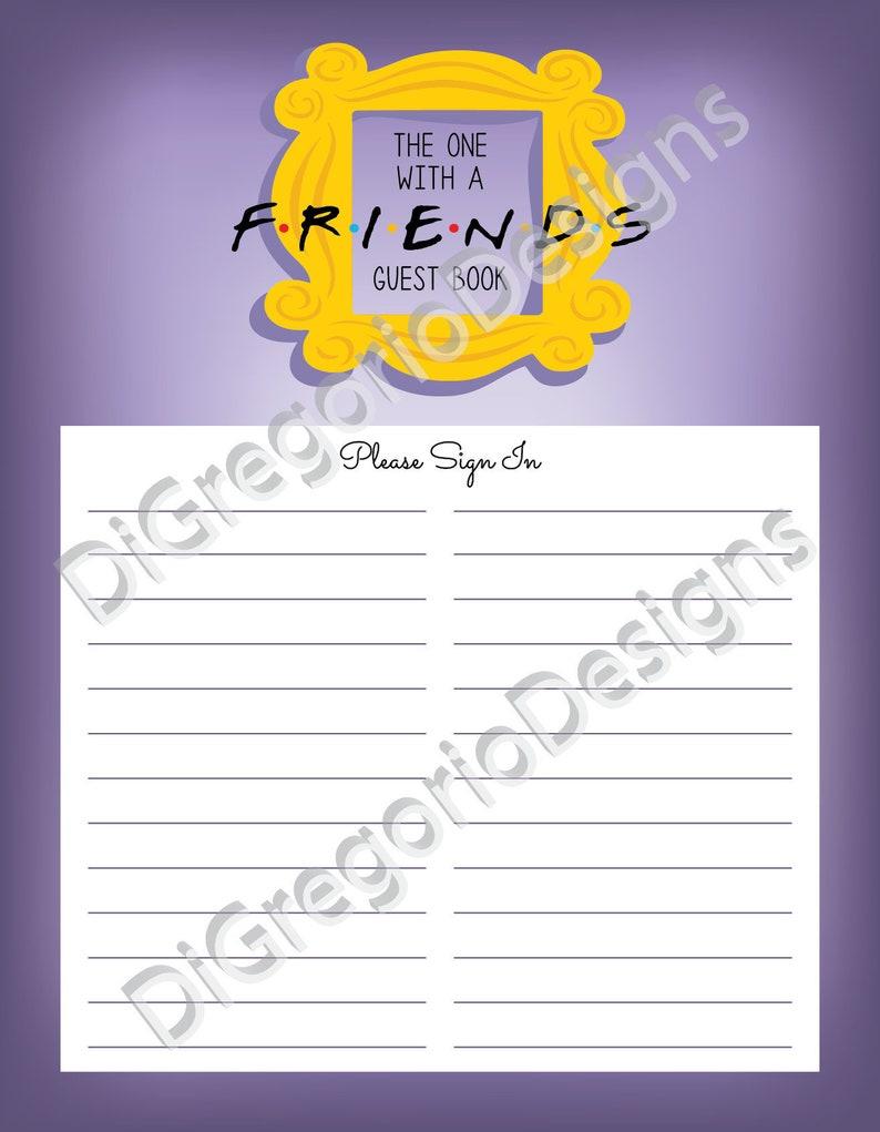Friends Themed Guest Book