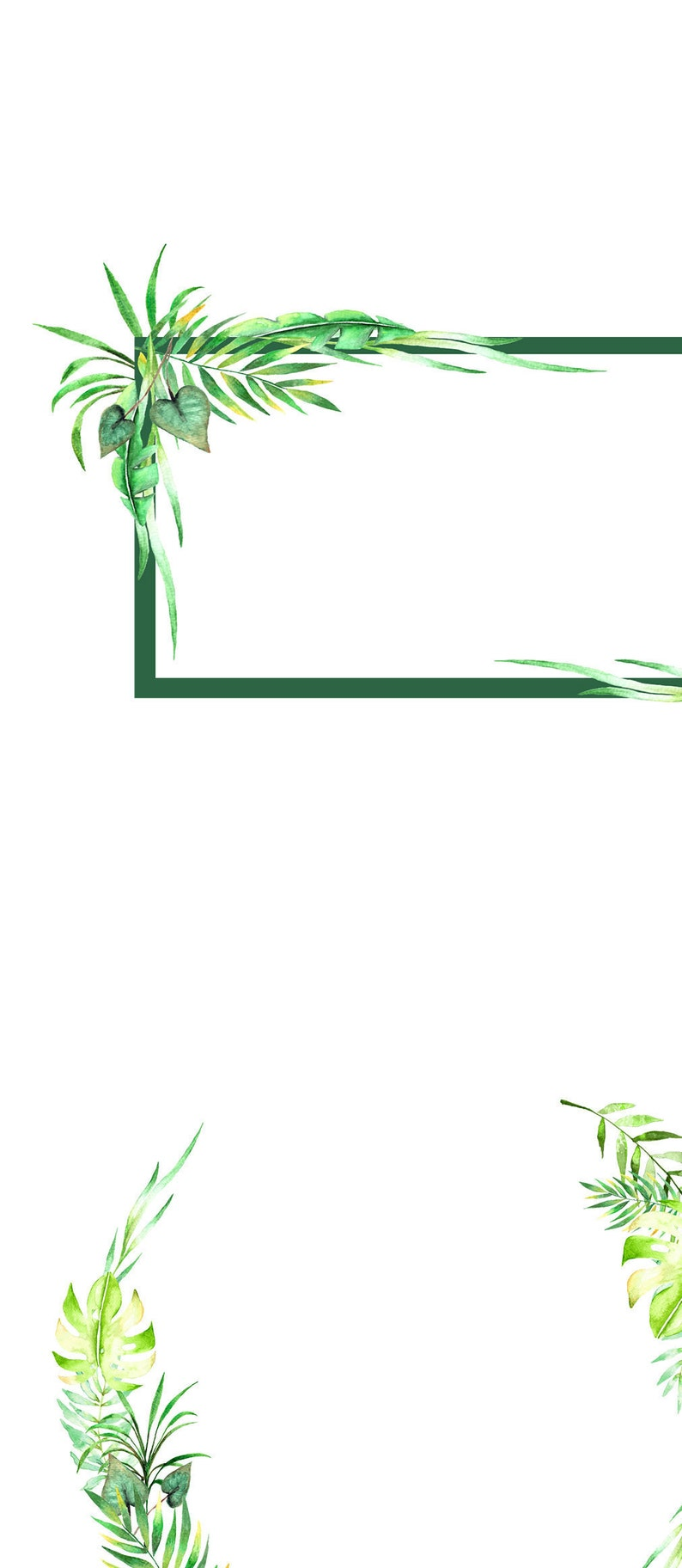 watercolor branches tropic illustrations foliage floral elements leaf diy clipart green leaf tropical wreath tropical leaves clipart
