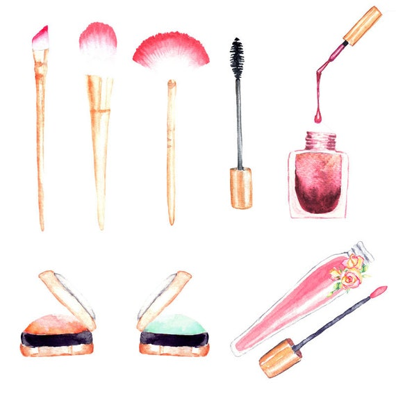 fashion illustration watercolor makeup make up illustrations watercolor lipstick hand painted makeup clipart mua illustrations aquarel