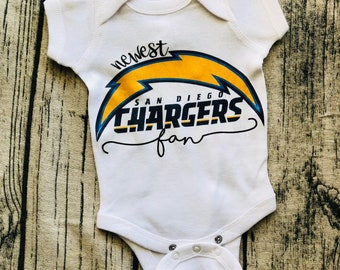 Newest San Diego Chargers Fan onesie
