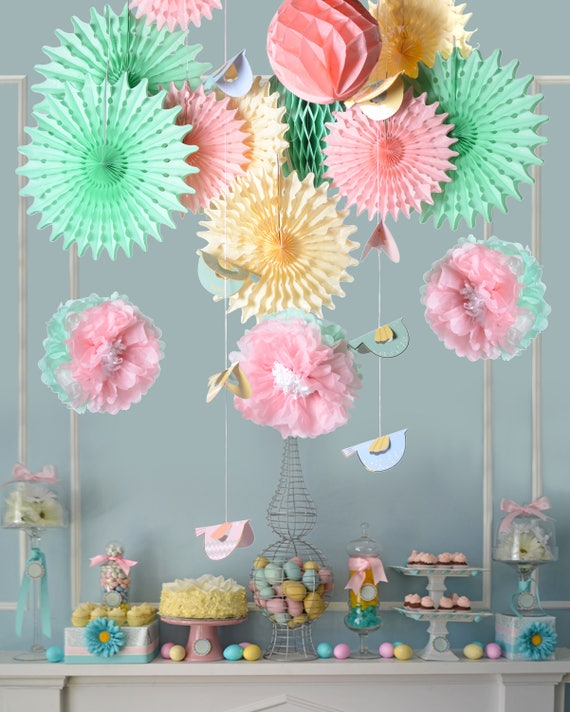 Easter Party Home Birthday Spring Party Decoration Photo Pros Etsy