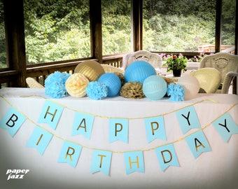 25pcs paper pom pom lantern banner honeycomb ball for birthday party decoration