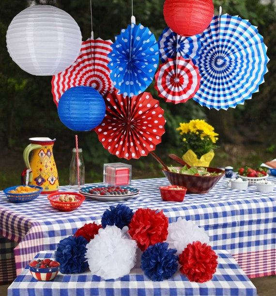 Paper Jazz Patriotic Day Party Decoration For Independence Day Etsy