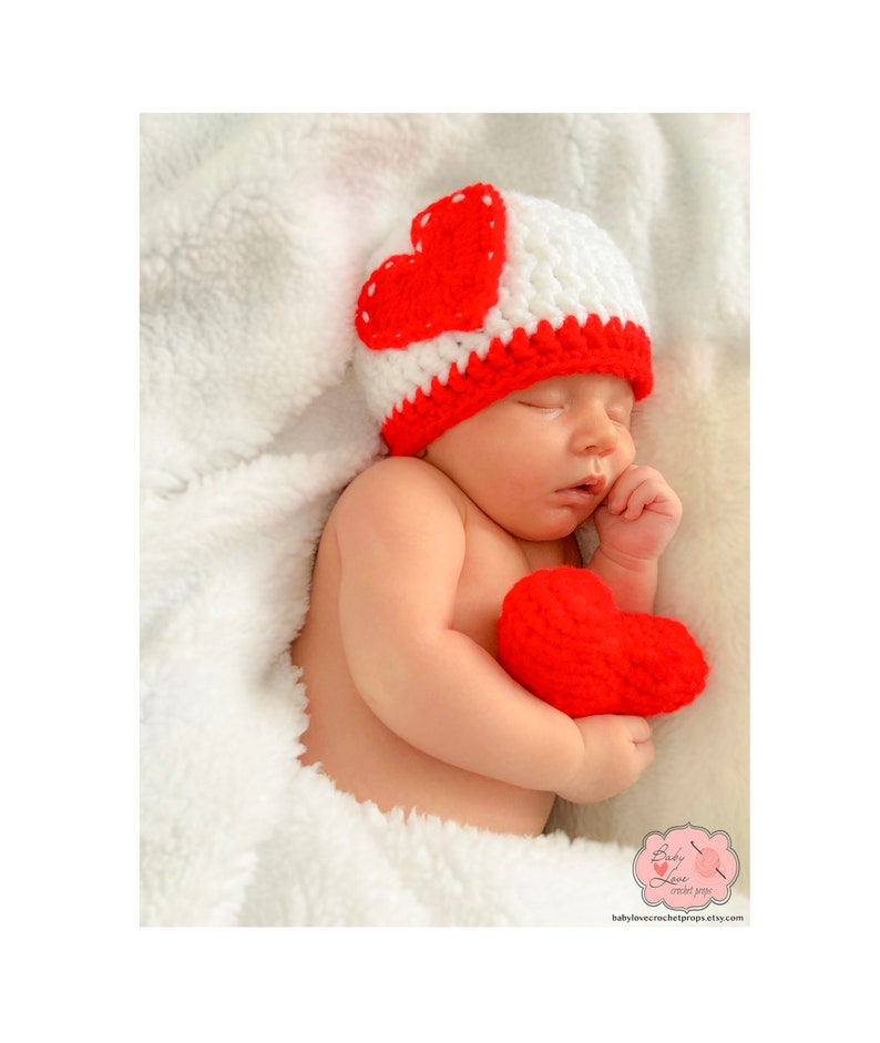 f0f654ff6b8 Valentines Day Heart Love Infant Newborn Baby Outfit Beanie