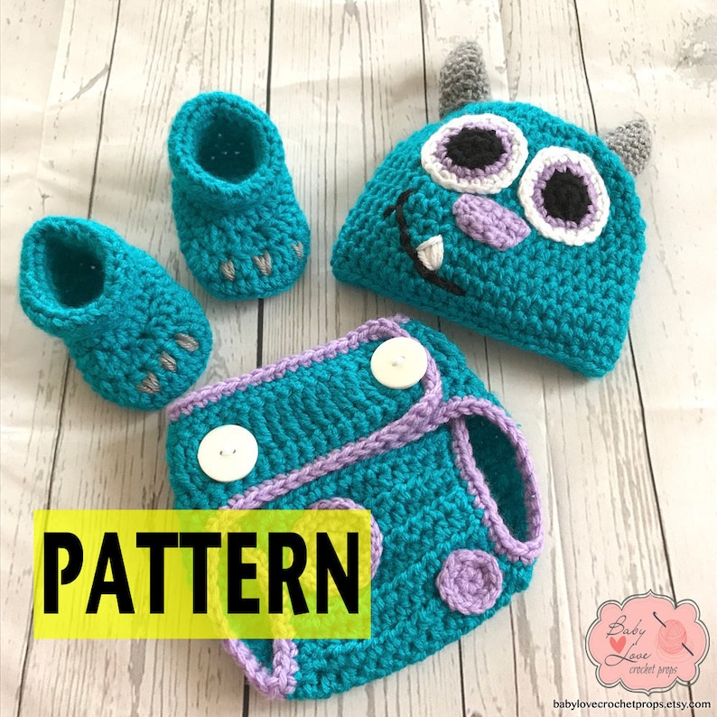 6bb2e8ad7dd PATTERN ONLY Disney Monsters Inc Inspired Sulley Infant