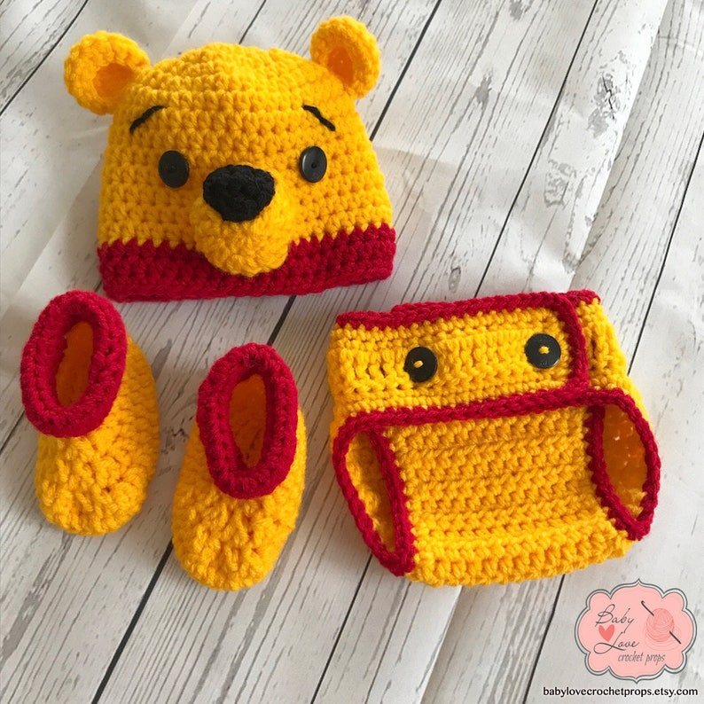 5d75cdd56f9 Disney Winnie The Pooh Inspired Infant Newborn Baby Outfit