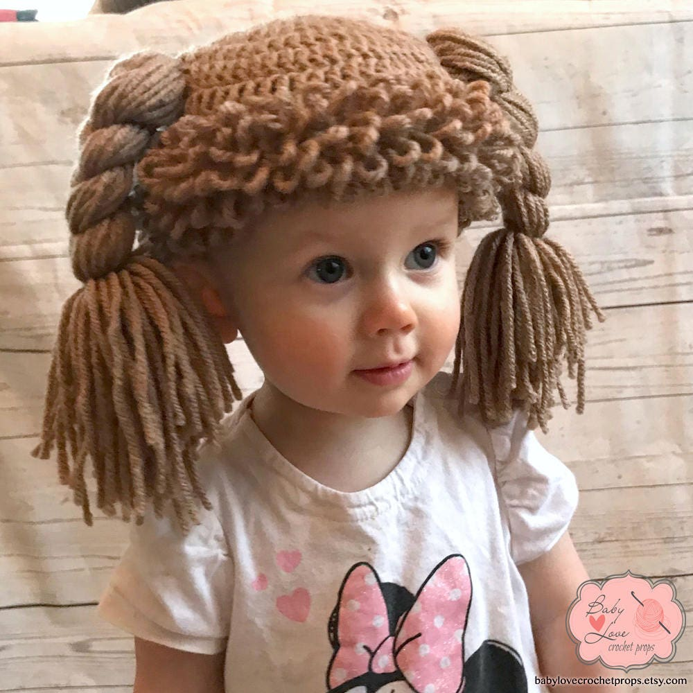 Cabbage Patch Doll Hair Infant Newborn Baby Toddler Sitter Etsy