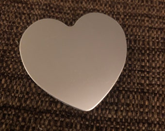 Engraved Plate (adhesive backing) - silver 2""