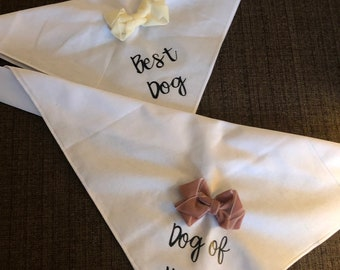 Best Dog/Dog of Honor/Flower Dog Pet Bandana