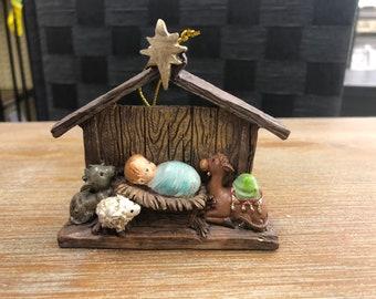 Engraved Christmas Tree Ornament (nativity)