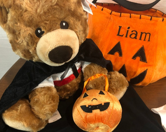 Personalized Halloween treat bag and/or Halloween Bear