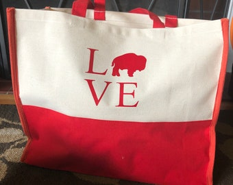 Large Tote - Buffalo Love design
