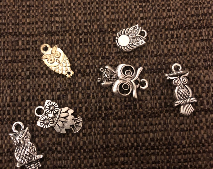 Assorted Owl Charms (Q6)