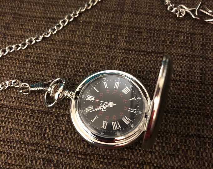 Personalized Pocket Watches (engraved) VARIOUS STYLES