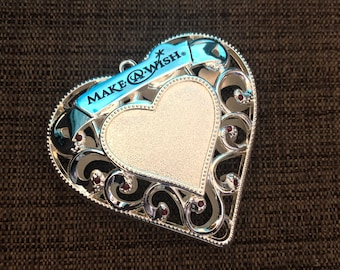 Engraved Christmas Tree Ornament (make a wish heart)