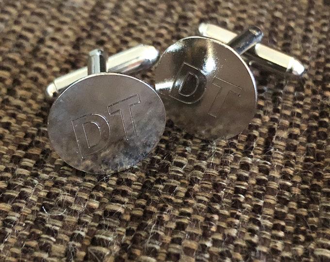 Thin Metal Cufflinks (personalized)