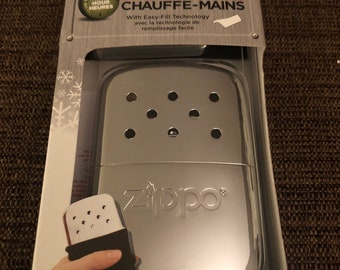 Engraved zippo handwarmer