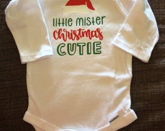 Little Mister Christmas Cutie Onesie/T-Shirt