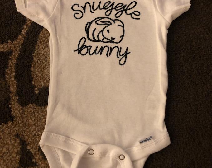 "Easter: Onesie ""Snuggle Bunny"""