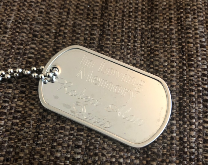 Military Style Dog Tag (engraved)