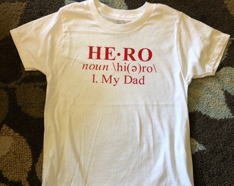 """4T/5T Toddler """"Hero"""" shirt - SALE - limited quantities available."""