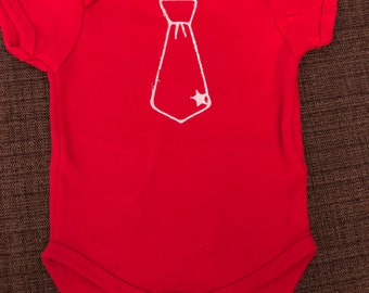 Red Onesie with Tie (SALE)