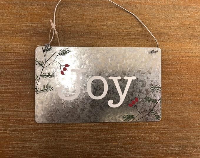 Engraved Christmas Tree Ornament (joy)