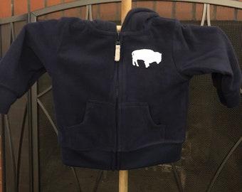 Baby hoodies with buffalo design