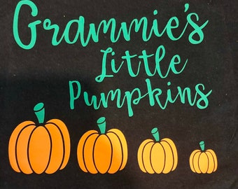Fall: Little Pumpkins T-shirt (personalized with names of your choice and number of pumpkins)