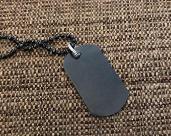 Black lacquer dog tag