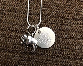 Buffalo Love Necklace with Buffalo Charm