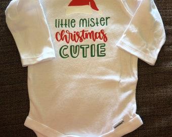 Little Mister Christmas Cutie Onesie/T-Shirt