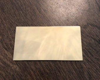 """3""""x1.625"""" gold brass - Engraved Plate (adhesive backing)"""