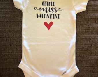 Valentine's Day: Little Miss Valentine Onesie/T-Shirt