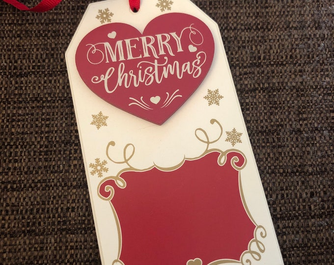 Engraved Christmas Tree Ornament (wooden merry Christmas)