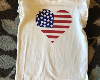 Heart with flag T-Shirt