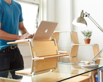 Laptop Stand - Standing Desk, Work from Home, sustainably harvested, manufactured in the USA
