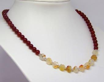 Necklace carnelian