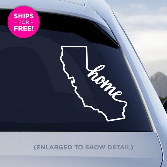 San Diego Add a heart over Los Angeles CA Native Car Vinyl Sticker San Jose California State Native Decal San Francisco Handmade with outdoor vinyl
