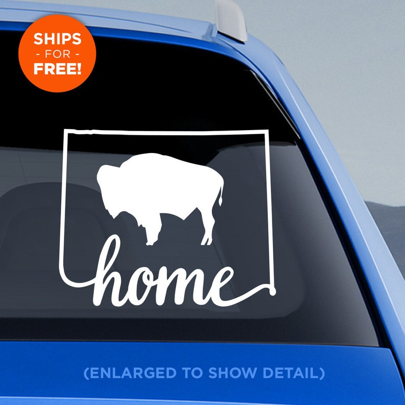 Wyoming State Home Decal With Stylized Wyoming Etsy