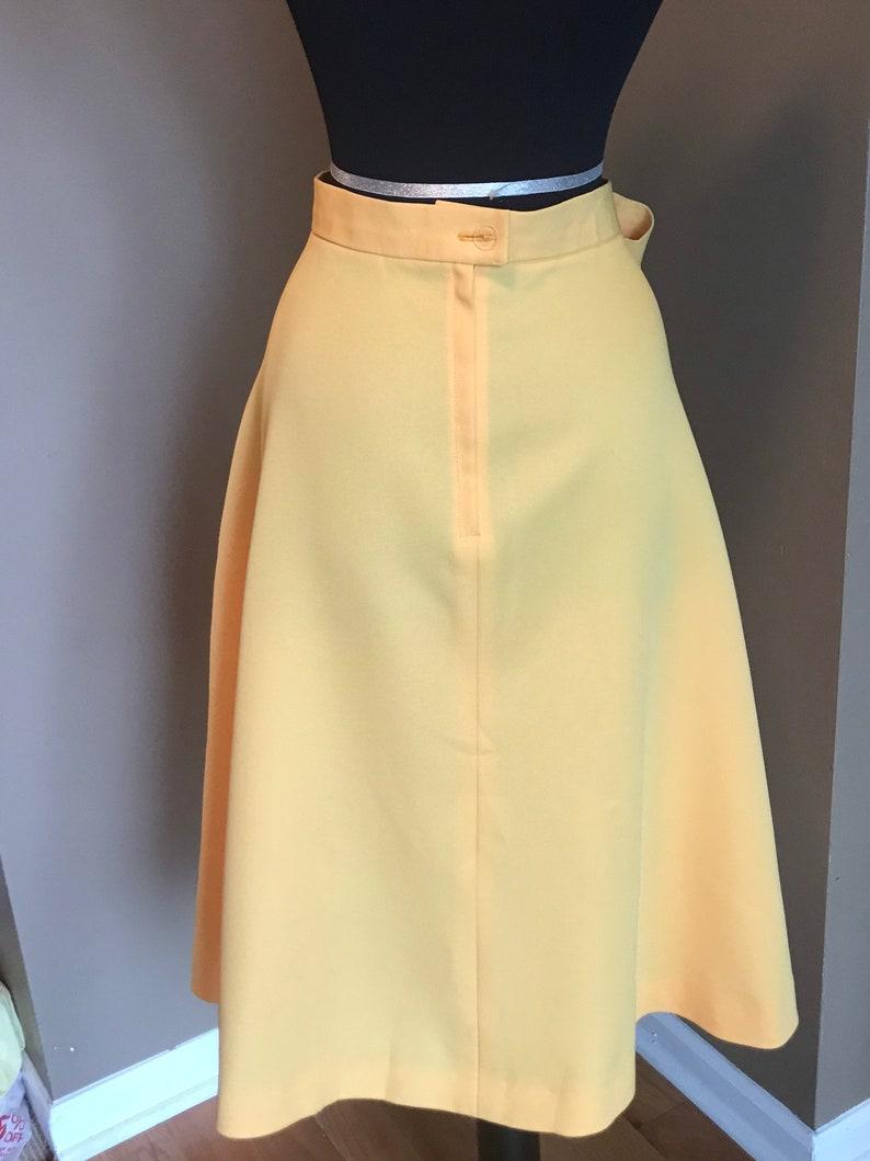 70s Butternut Yellow Swing Skirt Vintage Full Skirt Midi Skirt Modern Day Large Large Vintage