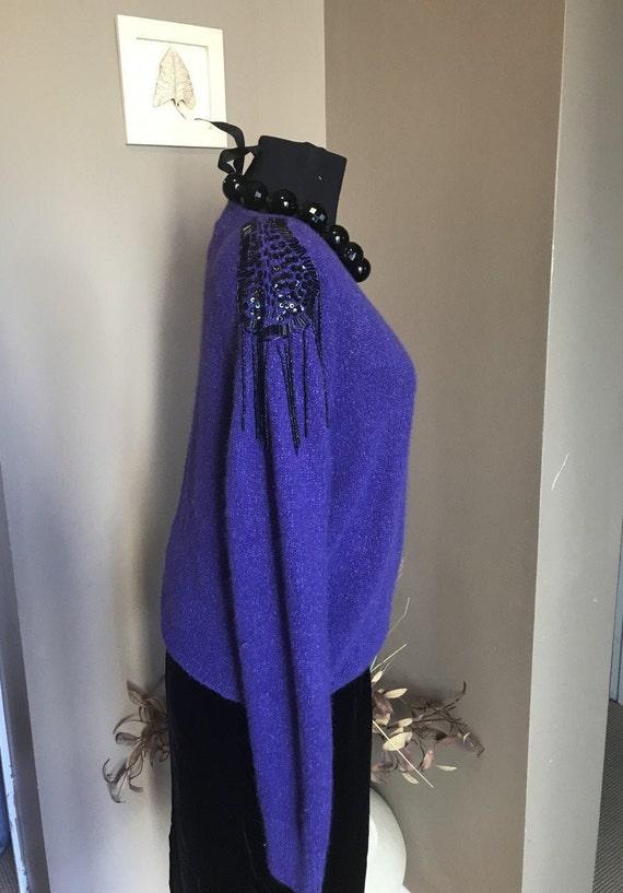 90s Purple Aphrodite Faux Wrap Sweater Modern Day LargeIndigo Sweater