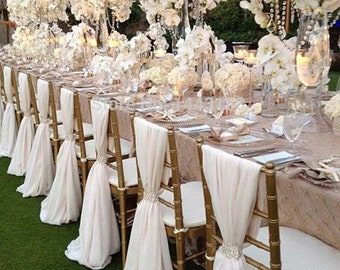 Chiffon elegant chair sash