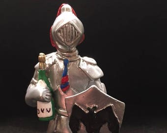 OOAK Knight Life Statue - Bar or Man Cave Decor