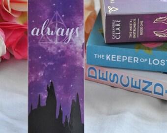 Always bookmark, Harry Potter, Harry Potter bookmark, Hogwarts bookmark, Literary bookmark, Bookmark, Hogwarts