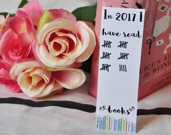 Reading challenge bookmark, Mark your reading progress bookmark, Bookmark, Goodreads, Literary bookmark, Literary gift