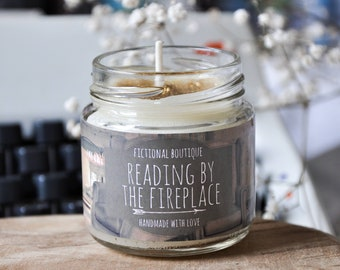 Winter Candle, Bookish Candle, Palm Wax Candle, Hand Poured Candle, Bookish Merch, Candle, Bookish Gift, Christmas Candle, Christmas Gift