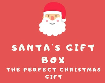 Santa's Gift Box / Christmas Gift Box For Book Lovers / Christmas Gift For Her / Book Lovers Care Package / Christmas Gift Set / Book Lovers